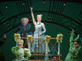 Isabel Keating as Madame Morrible, Ginna Claire Mason as Glinda and the cast of the national tour of Wicked