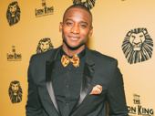 Jelani Remy, The Lion King's current Simba, suits up for the 20th anniversary celebration.