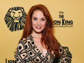 The Little Mermaid alum Sierra Boggess strikes a pose on Disney's big night.