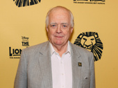 The Lion King's lyricist Tim Rice attends the 20th anniversary celebration performance.