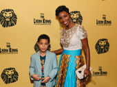 Tony winner Heather Headley and her son John David get ready for The Lion King's 20th anniversary performance.