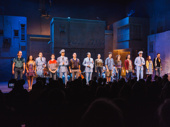 The company of The Band's Visit takes their opening night curtain call.