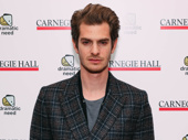 Angels in America's Andrew Garfield looks sharp.