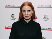 Academy Award nominee Jessica Chastain takes a photo.