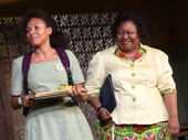 Nabiyah Be as Ericka and Myra Lucretia Taylor as Headmistress Francis in School Girls; Or, The African Mean Girls Play.