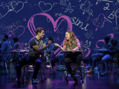 Kyle Selig as Aaron and Erika Henningsen as Cady in Mean Girls.