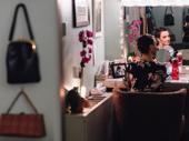 Kara Lindsay takes it all in her dressing room.