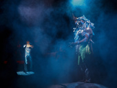 Isaac Powell as Daniel and Quentin Earl Darrington as Agwe in Once On This Island.