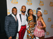 Associate choreographer Rickey Tripp, Hamilton's Antuan Magic Raimone, assistant choreographer Cat Foster and choreographer Camille A. Brown