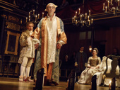 Mark Rylance as King Philippe V of Spain and the cast of Farinelli and the King.
