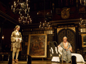 Sam Crane as Farinelli and Mark Rylance as King Philippe V of Spain in Farinelli and the King.