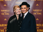 What a wonderful night! Farinelli and the King couple, scribe Claire Van Kampen and star Mark Rylance, are all smiles for their Broadway opening.