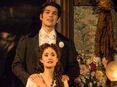 Rodney Ingram as Raoul and Ali Ewoldt as Christine in The Phantom of the Opera.