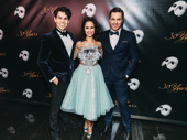 Rodney Ingram, Ali Ewoldt and Peter Jöback (currently starring as Raoul, Christine and the Phantom) celebrate Phantom's big milestone.