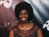 Phantom makeup guru Thelma Pollard hits the red carpet.