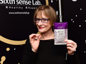 Patti LuPone poses with her Grammy swag.(Photo: Getty Images)