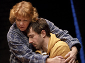 Becky Ann Baker as Nancy Prenchel and Alex Hurt as Nat Prenchel in Cardinal.