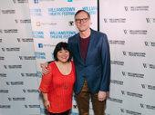 Broadway's Ann Harada and director Mark Brokaw snap a pic. She will star in The Closet, which Brokaw will helm.