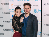 Theater couple Phillipa Soo and Steven Pasquale step out for the Williamstown Theatre Festival gala. Pasquale is set to star in the Theresa Rebeck play Seared this season.