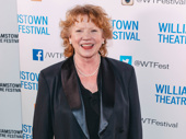 Stage and screen star Becky Ann Baker, who is currently appearing in Cardinal at Second Stage, is all smiles.
