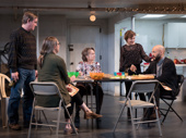 Richard Thomas, Pamela Reed, Daisy Eagan, Therese Plaehn & Luis Vega in The Humans tour.