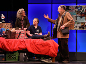 Debra Monk as Maggie, Jamie Brewer as Amy and Mark Blum as Jacob in Amy and the Orphans.