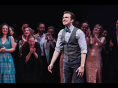 Original Jimmy Gavin Creel beams to the audience.