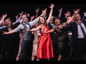 Thoroughly Modern Millie original cast members Harriet Harris, Gavin Creel, Sutton Foster, Sheryl Lee Ralph and Marc Kudisch finish the performance with flair.