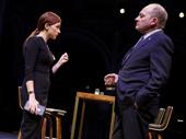 Aya Cash as Lauren and Zach Grenier as Senator John McDowell in Kings.