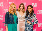 Watch your back! It's the Plastics! Mean Girls queen bees Kate Rockwell, Taylor Louderman and Ashley Park strike a pose.