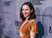 It's The Marvelous Mrs. Maisel! Rachel Brosnahan steps out for the Roundabout Gala.