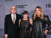 Roundabout Theatre Company Artistic Director and CEO Todd Haimes poses with Amy and the Orphans star Jamie Brewer and scribe Lindsey Ferrentino.