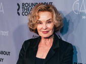 The evening's honoree Jessica Lange works it on the red carpet.