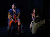 Kyle Beltran as Brom and Jennifer Kim as Rona in The Amateurs