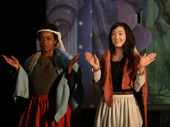 Quincy Tyler Bernstein as Hollis and Jennifer Kim as Rona in The Amateurs.