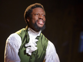 Michael Luwoye as Alexander Hamilton in Hamilton.