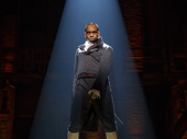 Daniel Breaker as Aaron Burr in Hamilton.