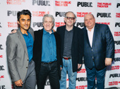 Low Road's Gopal Divan, Richard Poe, Max Baker and Kevin Chamberlin are all smiles om opening night.