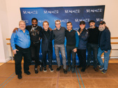 Summer: The Donna Summer musical's creative team snaps a pic: musical supervisor Ron Melrose, book writer Colman Domingo, book writer and director Des McAnuff, book writer Robert Cary, choreographer Sergio Trujillo, producers Tommy Mottola, Bruce Sudano and Michael David.