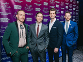 Angels in America cast members Matty Oaks, Rob Todoworski, Lee Aaron Rosen and Curt James demur for the camera.