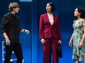 John McGinty as Orin Dennis, Julee Cerda as Edna Klein and Lauren Ridloff as Sarah Norman in Children of a Lesser God.