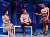 Lauren Ridloff as Sarah Norman, Joshua Jackson as James Leeds and Treshelle Edmond as Lydia  in Children of a Lesser God.