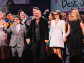 Mean Girls composer Jeff Richmond, director Casey Nicholaw, scribe Tina Fey and lyricist Nell Benjamin take a bow.