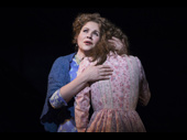 Renée Fleming as Nettie Fowler and Jessie Mueller as Julie Jordan in Carousel.