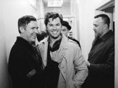 The Boys in the Band's Brian Hutchison and Andrew Rannells are all smiles after their first preview.