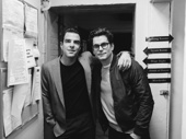 The Boys in the Band  co-stars Zachary Quinto and Matt Bomer snap a pic backstage.