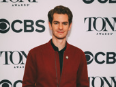 Angels in America Tony nominee Andrew Garfield takes a photo.