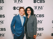 It's the best day ever! SpongeBob SquarePants' Tony-nominated star Ethan Slater and director Tina Landau get together.