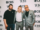 The Band's Visit's Tony-nominated trio: scribe Itamar Moses, director David Cromer and music man David Yazbek.