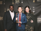 Carousel's Lindsay Mendez and Joshua Henry flank KPOP star and Lortel winner Jason Tam.